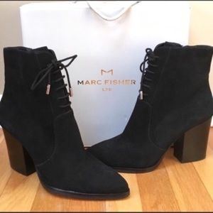 Marc Fisher 'Aaliyah' Suede Pointy Toe Booties